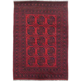 Ecarpetgallery Hand-knotted Khal Mohammadi Black and Red Wool Rug (6'8 x 9'6)