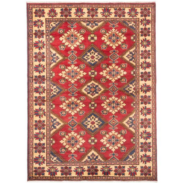 Ecarpetgallery Hand-knotted Finest Kargahi Red Wool Rug (6'10 x 9'7)