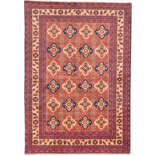 Ecarpetgallery Hand-knotted Finest Kargahi Brown Wool Rug (6'7 x 9'6)