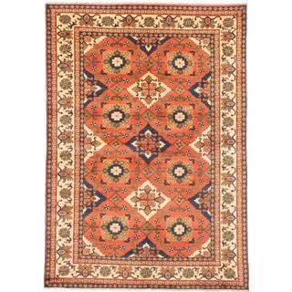 Ecarpetgallery Hand-knotted Finest Kargahi Brown Wool Rug (6'10 x 9'9)