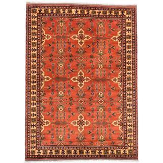 Ecarpetgallery Hand-knotted Finest Kargahi Brown Wool Rug (6'9 x 9'5)