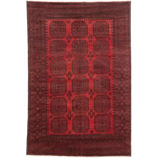 Ecarpetgallery Hand-knotted Khal Mohammadi Black and Red Wool Rug (6'2 x 9'2)
