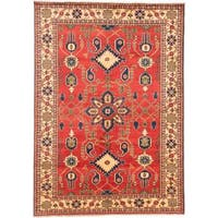 Ecarpetgallery Hand-knotted Finest Kargahi Red Wool Rug (6'11 x 9'10)