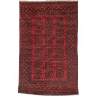 Ecarpetgallery Hand-knotted Khal Mohammadi Black and Red Wool Rug (6'2 x 9'10)