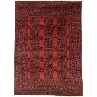 Ecarpetgallery Hand-knotted Khal Mohammadi Black and Red Wool Rug (6'3 x 8'9)