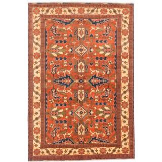 Ecarpetgallery Hand-knotted Finest Kargahi Brown Wool Rug (6'8 x 9'10)