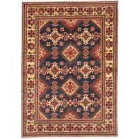 Ecarpetgallery Hand-knotted Finest Kargahi Blue Wool Rug (6'8 x 9'4)