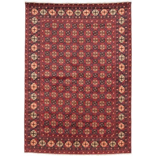 Ecarpetgallery Hand-knotted Finest Kargahi Red Wool Rug (6'9 x 9'7)
