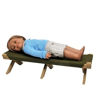 The Queen's Treasures Adventure Camp Cot (Option: Green)