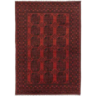 Ecarpetgallery Hand-knotted Khal Mohammadi Black and Red Wool Rug (6'8 x 9'4)