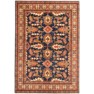 Ecarpetgallery Hand-knotted Finest Kargahi Blue Wool Rug (6'10 x 9'9)