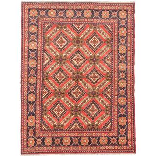 Ecarpetgallery Hand-knotted Finest Kargahi Brown Wool Rug (6'10 x 9'2)