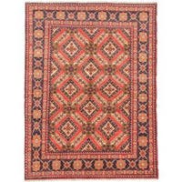 Ecarpetgallery Hand-knotted Finest Kargahi Brown Wool Rug (6'10 x 9'2)