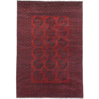 Ecarpetgallery Hand-knotted Khal Mohammadi Black and Red Wool Rug (6'6 x 9'6)