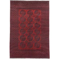 Ecarpetgallery Hand-knotted Khal Mohammadi Black and Red Wool Rug - 6'6 x 9'6