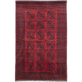 Ecarpetgallery Hand-knotted Khal Mohammadi Blue and Red Wool Rug (6'4 x 10')