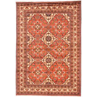 Ecarpetgallery Hand-knotted Finest Kargahi Brown Wool Rug (6'9 x 9'9)