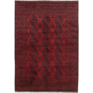 Ecarpetgallery Hand-knotted Khal Mohammadi Black and Red Wool Rug (6'6 x 9'3)