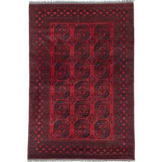 Ecarpetgallery Hand-knotted Khal Mohammadi Black and Red Wool Rug (6'6 x 9'9)