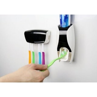Automatic Toothpaste Squeezer + 5-Toothbrush Holder