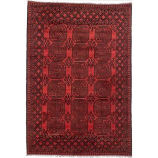 Ecarpetgallery Hand-knotted Khal Mohammadi Black and Red Wool Rug (6'7 x 9'8)