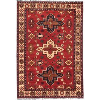 Ecarpetgallery Hand-knotted Finest Kargahi Brown Wool Rug (6'2 x 8'11)