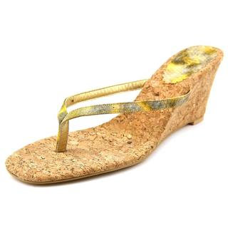Annie Shoes Women's 'Ada' Yellow Synthetic Sandals