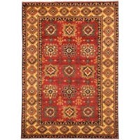 Ecarpetgallery Hand-knotted Finest Kargahi Brown Wool Rug (6'7 x 9'5)