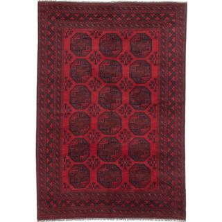 Ecarpetgallery Hand-knotted Khal Mohammadi Black and Red Wool Rug (6'8 x 9'8)