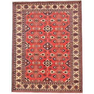 Ecarpetgallery Hand-knotted Finest Kargahi Brown Wool Rug (7'3 x 9'3)