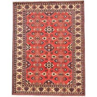 Ecarpetgallery Hand-knotted Finest Kargahi Brown Wool Rug (7'3 x 9'3) - 7'3 x 9'3