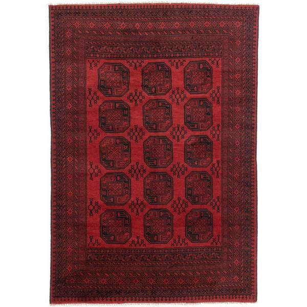 Ecarpetgallery Hand-knotted Khal Mohammadi Black and Red Wool Rug - 6'6 x 9'5