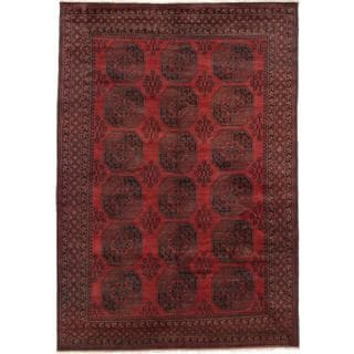 Ecarpetgallery Hand-knotted Khal Mohammadi Black and Red Wool Rug (6'9 x 9'9)