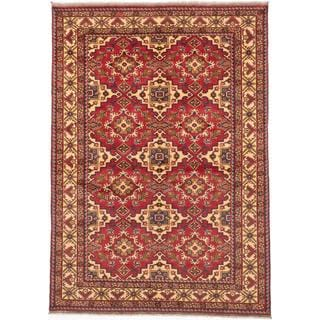 Ecarpetgallery Hand-knotted Finest Kargahi Red Wool Rug (6'11 x 9'8)