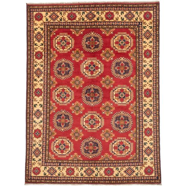 Ecarpetgallery Hand-knotted Finest Kargahi Red Wool Rug (7'1 x 9'5)