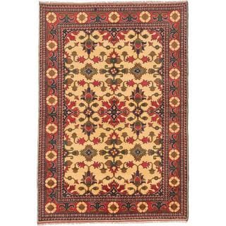Ecarpetgallery Hand-knotted Finest Kargahi Yellow Wool Rug (6'2 x 8'11)