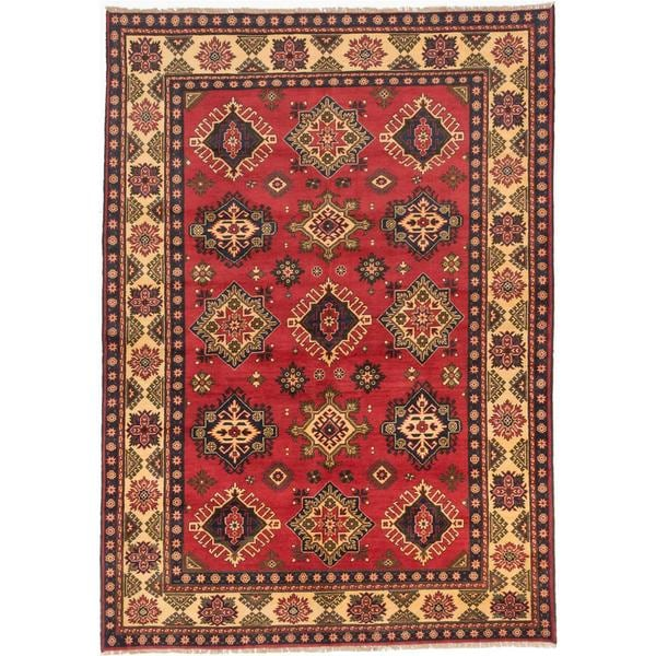 Ecarpetgallery Hand-knotted Finest Kargahi Red Wool Rug (6'11 x 9'9)