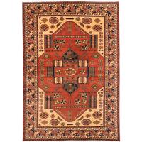 Ecarpetgallery Hand-knotted Finest Kargahi Brown Wool Rug (6'10 x 9'8)