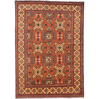 Ecarpetgallery Hand-knotted Finest Kargahi Brown Wool Rug (6'9 x 9'4)