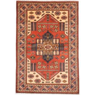 Ecarpetgallery Hand-knotted Finest Kargahi Brown Wool Rug (6'9 x 9'8)