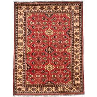 Ecarpetgallery Hand-knotted Finest Kargahi Red Wool Rug (7'4 x 9'8)