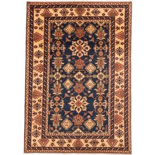 Ecarpetgallery Hand-knotted Finest Kargahi Blue Wool Rug (6'8 x 9'7)