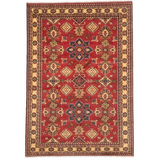 Ecarpetgallery Hand-knotted Finest Kargahi Red Wool Rug (6'7 x 9'7)