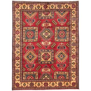 Ecarpetgallery Hand-knotted Finest Kargahi Red Wool Rug (6'11 x 9'3)