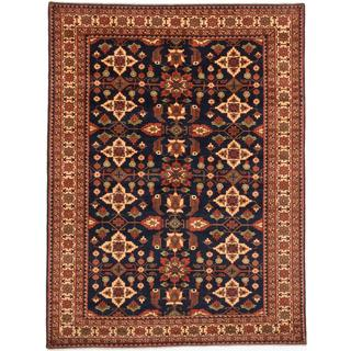 Ecarpetgallery Hand-knotted Finest Kargahi Blue Wool Rug (7' x 9'4)