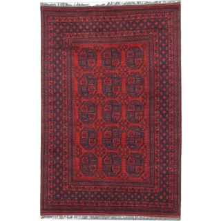 Ecarpetgallery Hand-knotted Khal Mohammadi Red Wool Rug (6'6 x 9'9)