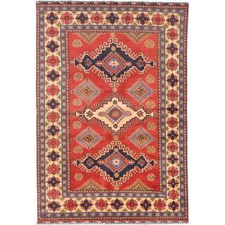 Ecarpetgallery Hand-knotted Finest Kargahi Brown Wool Rug (6'9 x 9'7)