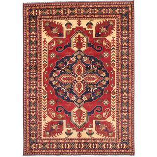 Ecarpetgallery Hand-knotted Finest Kargahi Brown Wool Rug (6'11 x 9'6)