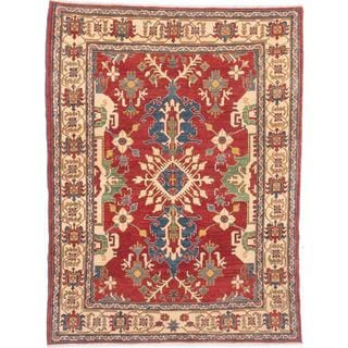 Ecarpetgallery Hand-knotted Finest Gazni Red Wool Rug (6'3 x 8'2)