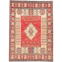 Ecarpetgallery Hand-knotted Finest Gazni Red Wool Rug (6'5 x 8'11)